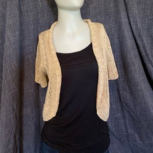 Crochet shrug, sand (beige/cream)